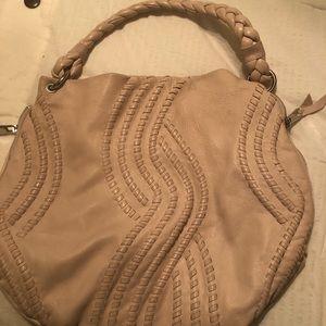 Kenar pink leather handbag